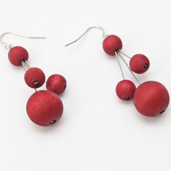 Sylca Designs Earrings, Berna, Scarlet