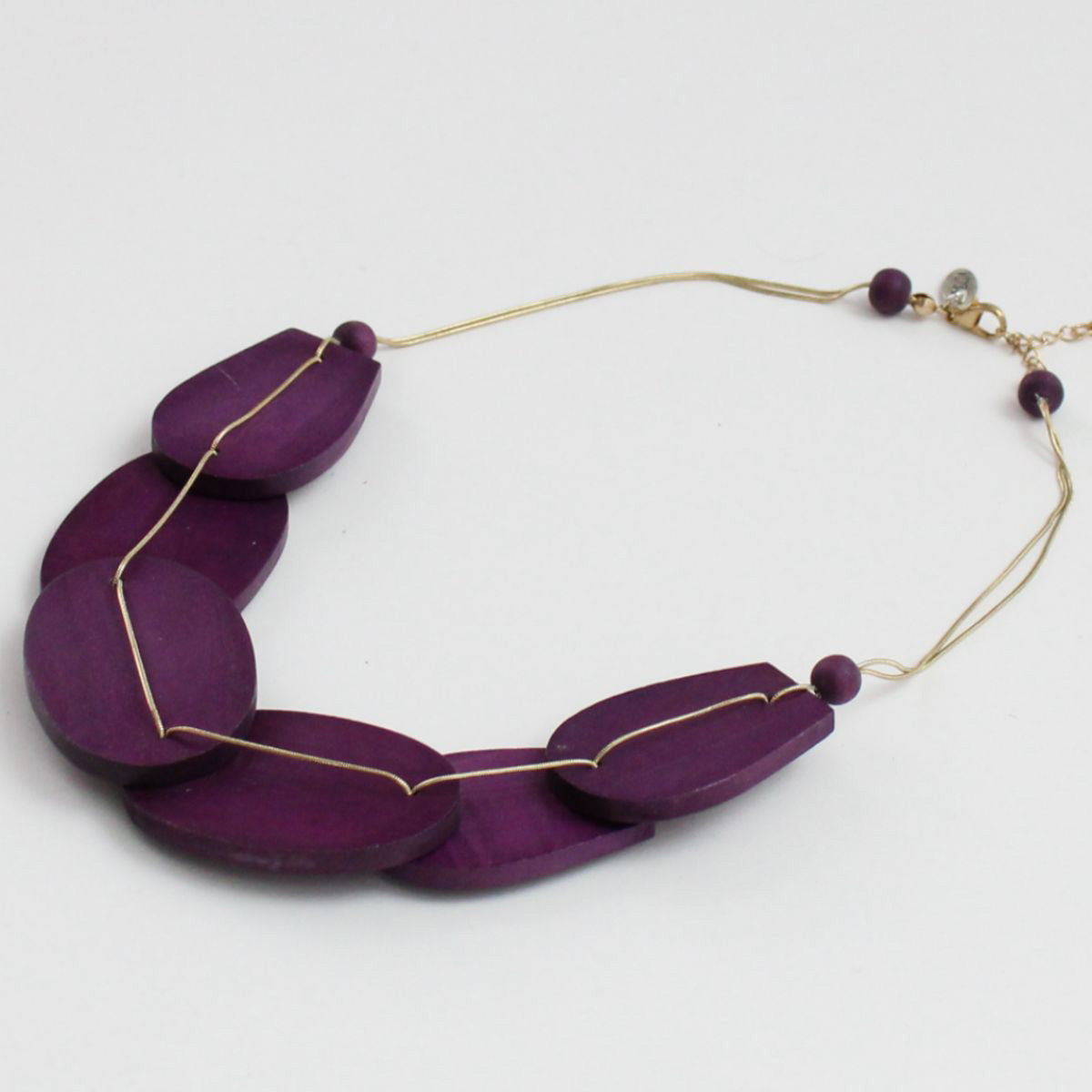 Sylca Designs Necklace, Wooden Grace, Purple