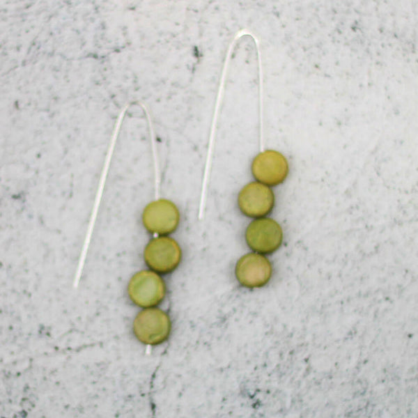 Sylca Designs Earrings, Eva Dangle, Lime