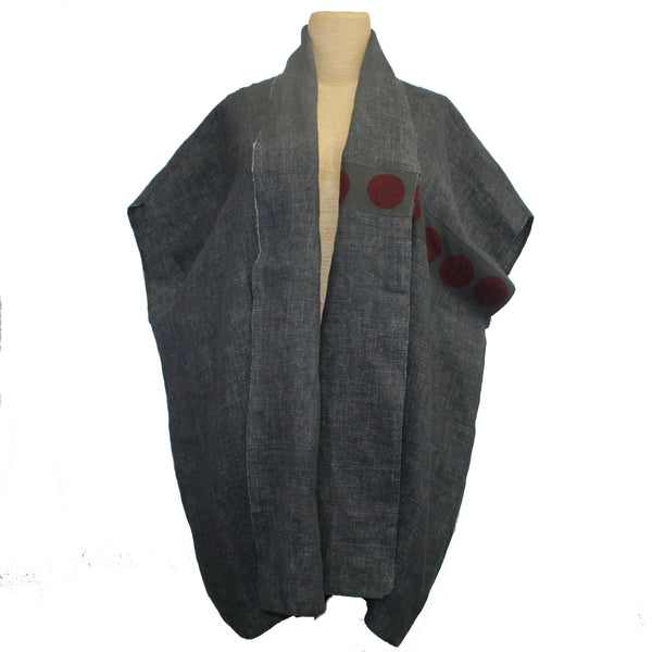 Xiaoyan Lin Vest, Red Circle, OS