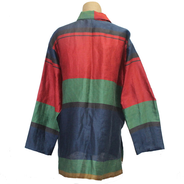 Xiaoyan Lin Shirt, Blue/Red/Green, M