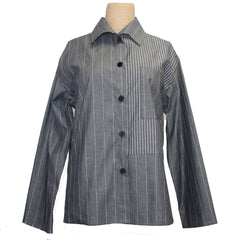 Xiaoyan Lin Shirt, Grey/White Sizes S and M