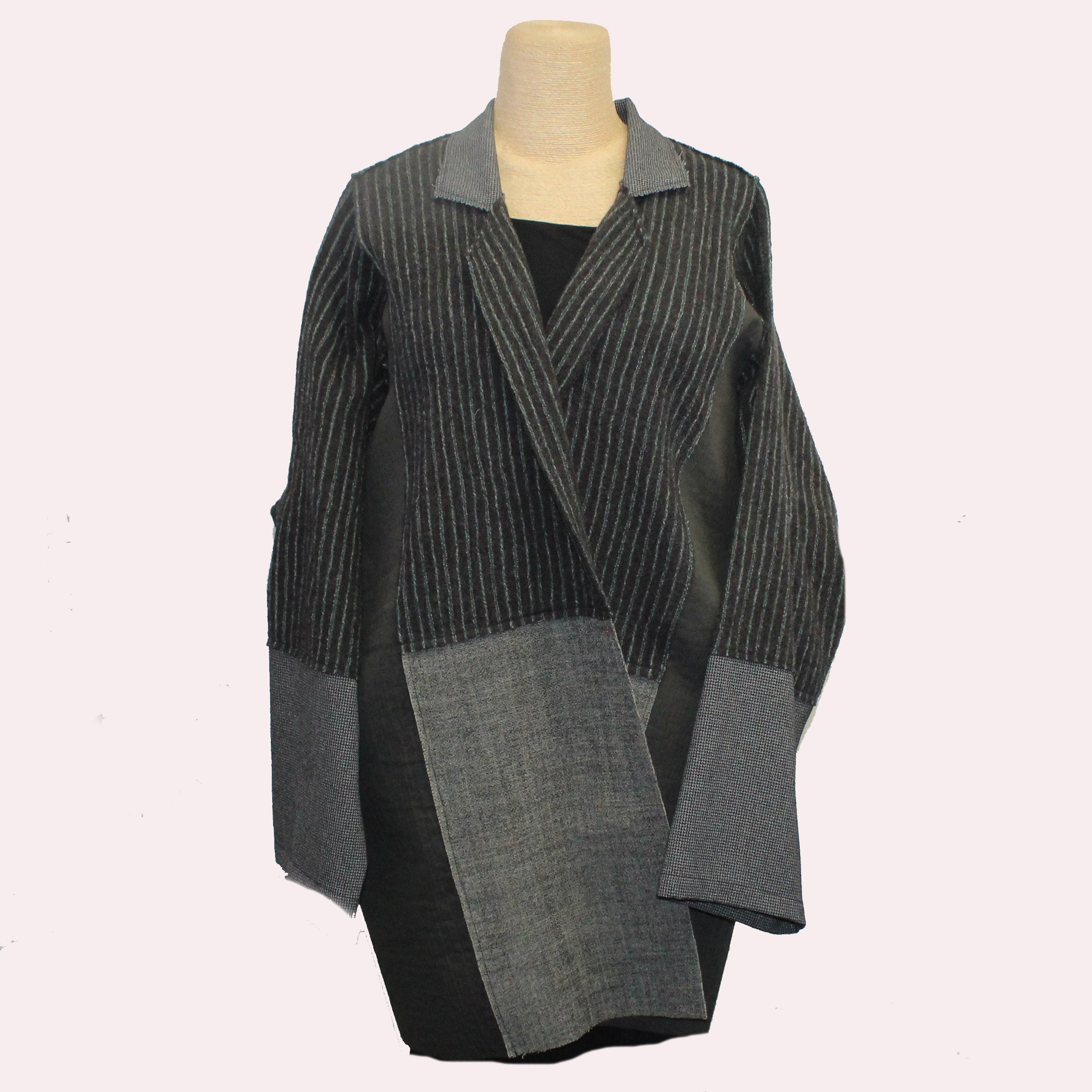 Xiaoyan Lin Jacket, Black/Grey, OS