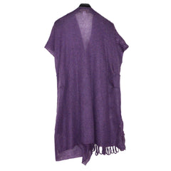 Zuza Bart Sweater Vest, Purple, M
