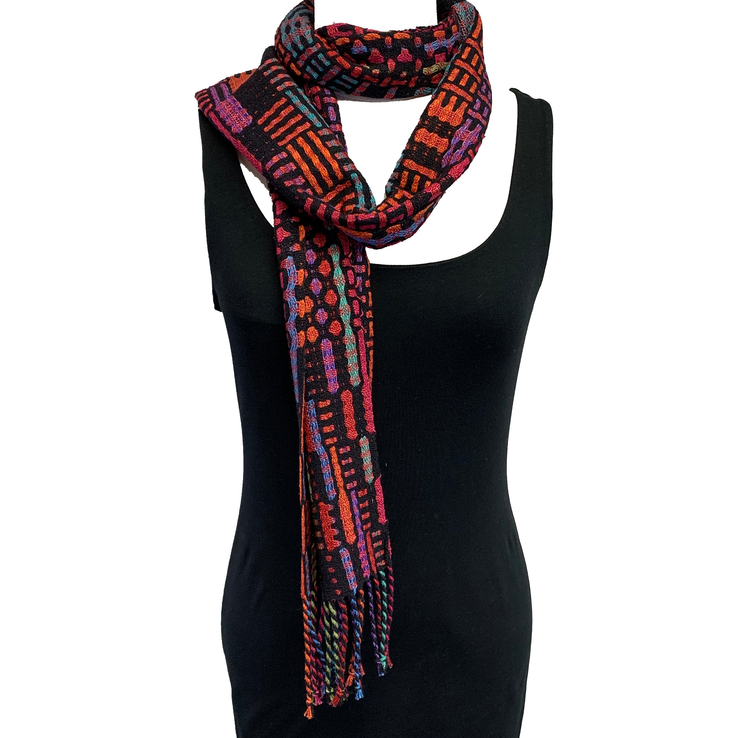 Muffy Young Scarf, New Wave, Vibrant Orange