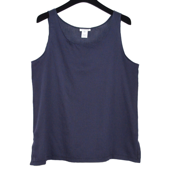 Sophie Finzi Tank, Navy Blue Cotton, M