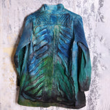 Tatiana Palnitska Jacket, Emerald/Teal/Blue/Black, XS/S