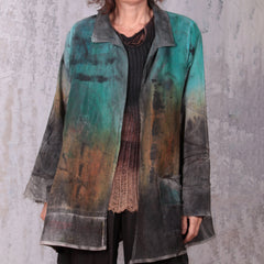 Tatiana Palnitska Jacket, Rust/Green/Charcoal, L