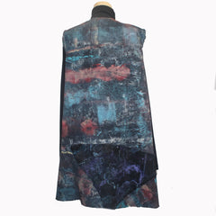 Tatiana Palnitska Vest, Multi-Color/Black, L