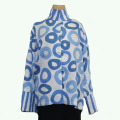 Kay Chapman Shirt/Jacket, Blue/White, L
