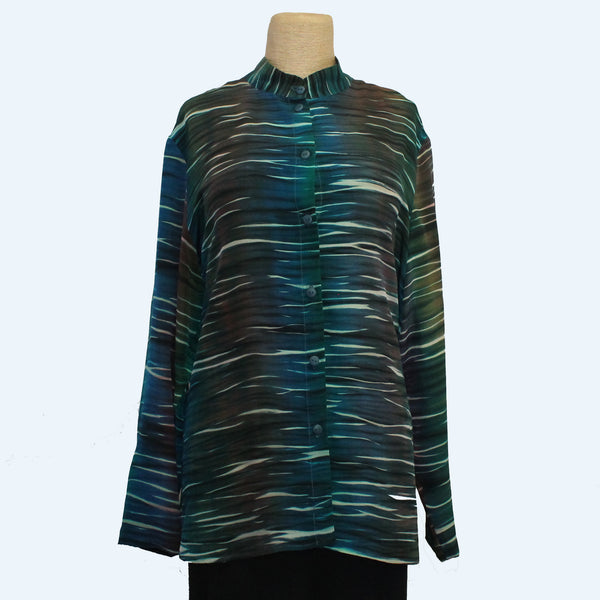 Doshi Shirt, Sweet Tart, Winter Sun, Green/Blue/Brown, L