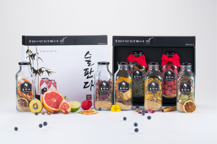 Natural Fruits & Herbs Infuser Starter <Gift Box>