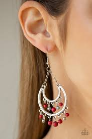 Free-Spirited Spirit - Red Earring