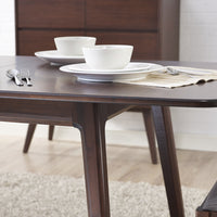 Laurel Dining Table Detail, Sable
