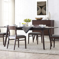 Laurel Dining Collection with Sideboard Cabinet, Sable