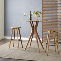"Mimosa 26"" Counter Height Table and Stool Set, Caramelized"