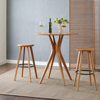 "Mimosa 30"" Bar Height Table and Stool Set, Caramelized"