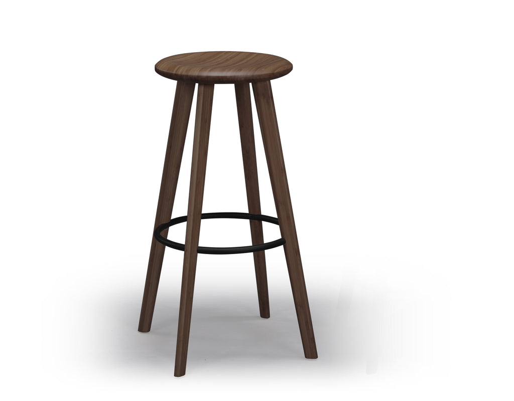 "Mimosa 30"" Bar Height Stool, Black Walnut"