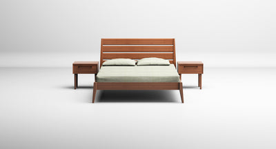 Sienna Platform Bed, Caramelized
