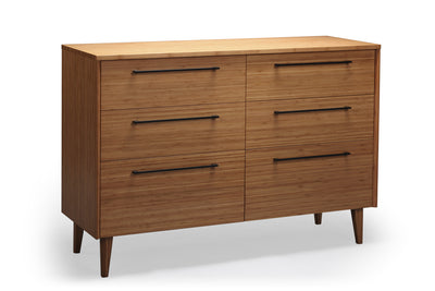 Sienna Six Drawer Dresser, Caramelized