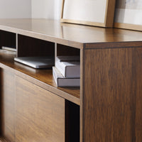 Aurora Sideboard Entertainment Center, Exotic - Detail