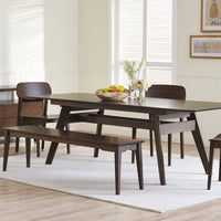 Currant Dining Set in Black Walnut Finish
