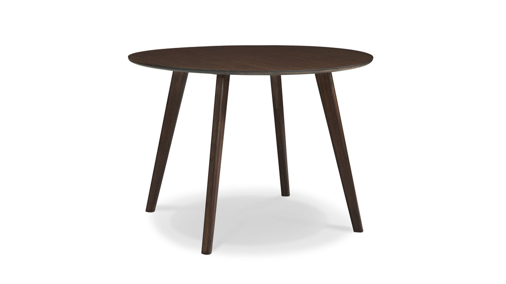 "Currant Round 42"" Dining Table, Black Walnut"