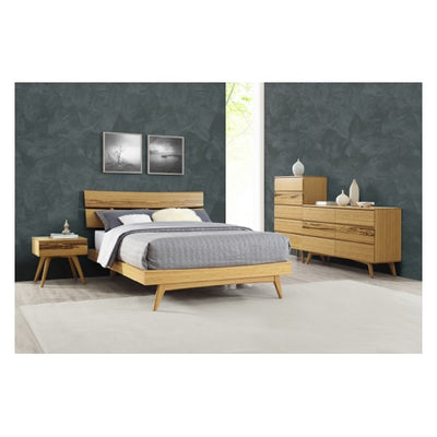 Azara Platform Bed, Caramelized