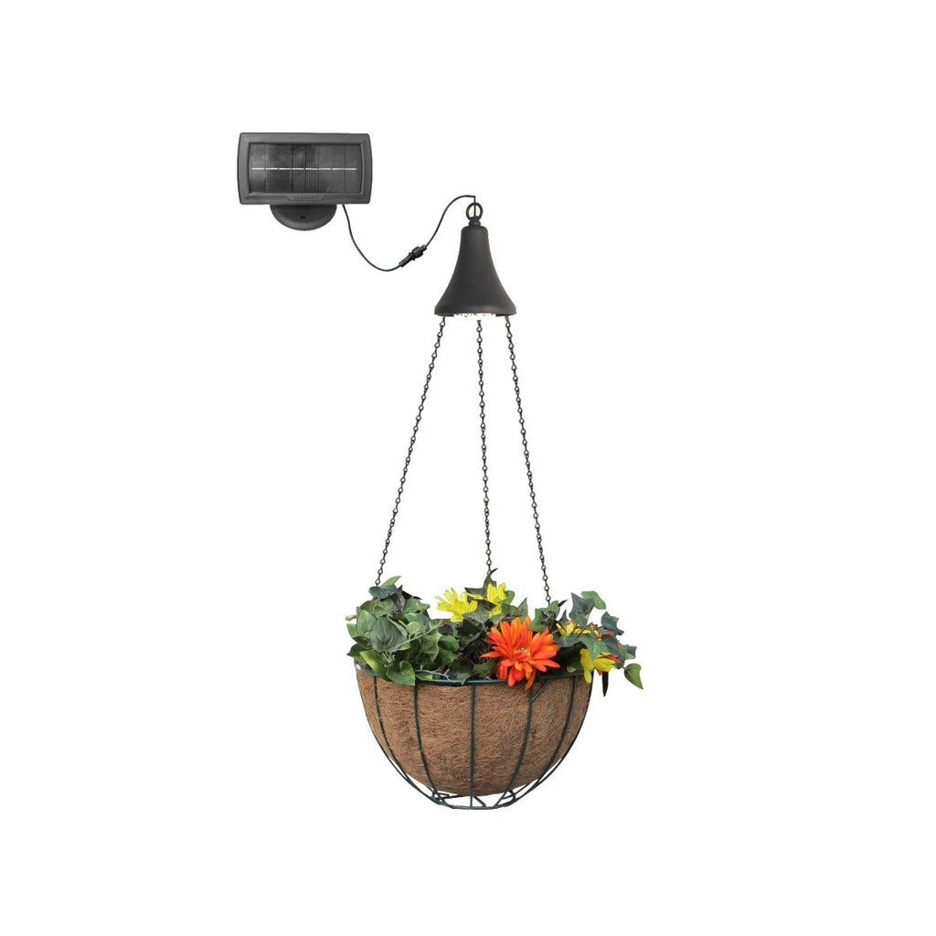 Hanging Basket with Solar Light - 2Pk