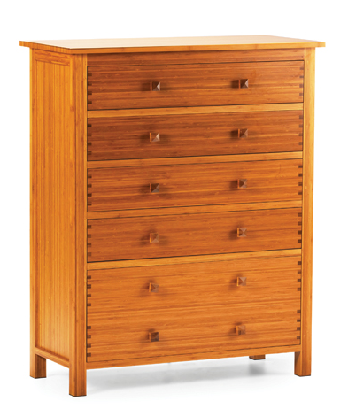 The Hosta Collection: 5-Drawer Bamboo Chest from Greenington