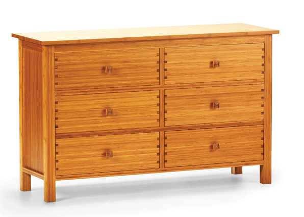 Greenington The Hosta Collection: 6-Drawer Bamboo Dresser