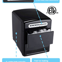 Sunpentown Portable Ice Maker in Black (IM-120B)