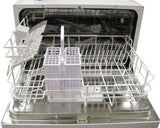 SPT Counter Top Dishwasher in Silver (SD-2201S) - inside view