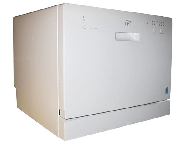 Sunpentown Countertop Dishwasher in White (SD-2201W)