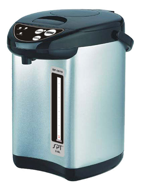 Sunpentown SP-3619 Stainless-Steel 3-3/5-Liter Dual-Pump Hot-Water Dispensing Pot
