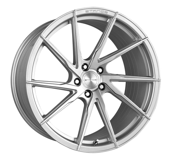 STANCE WHEELS SF01 BRUSH FACE SILVER