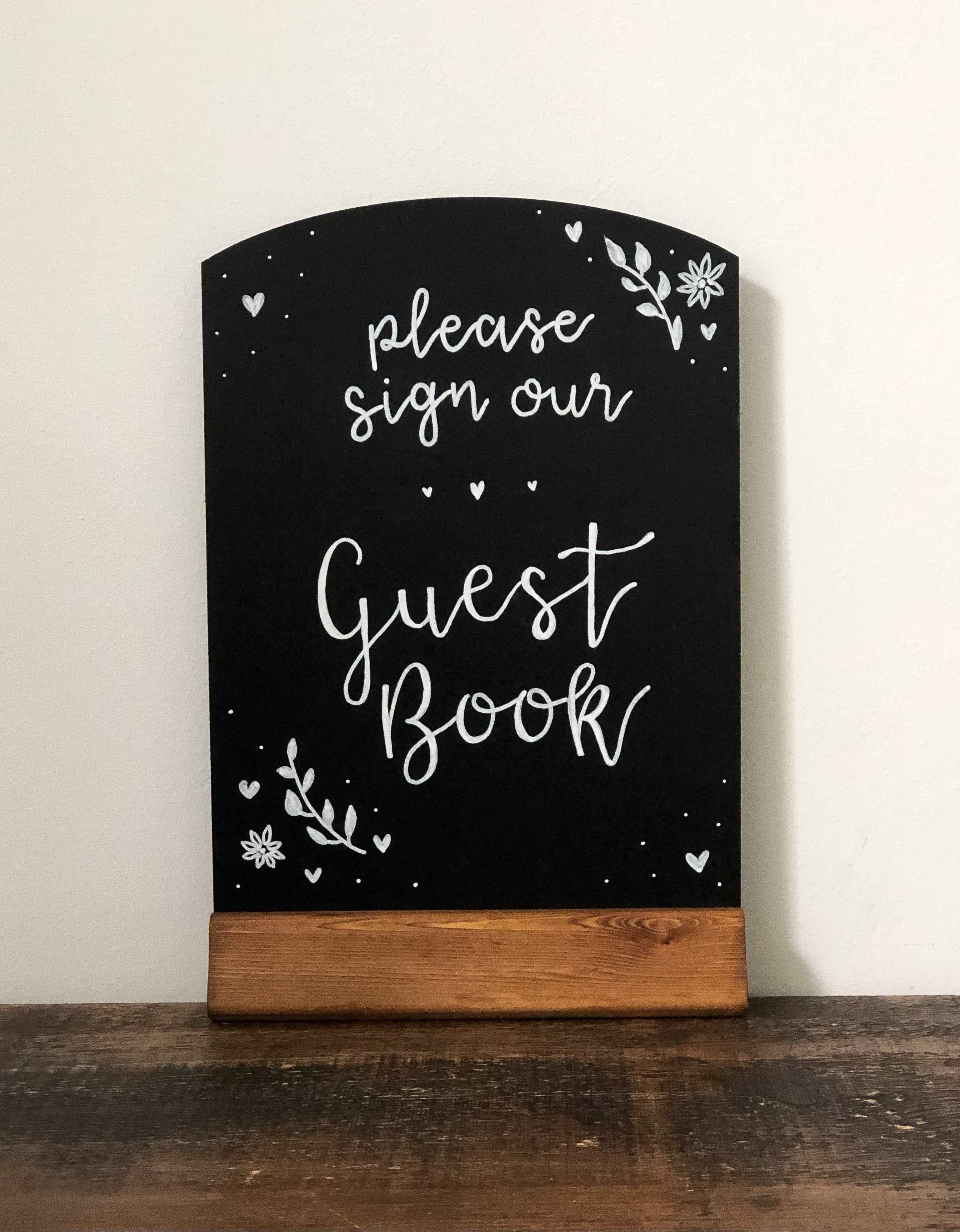 Chalk Board Sign Guest Book