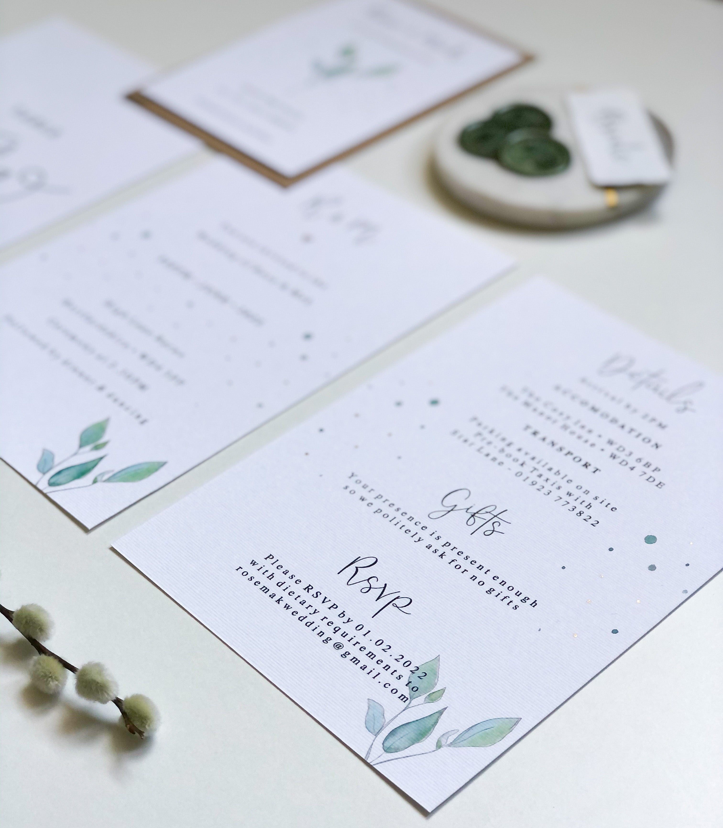 Olive Wedding Collection - Invite