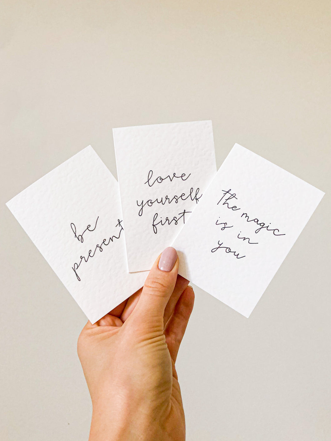 Mini Mantra Cards - set of 4