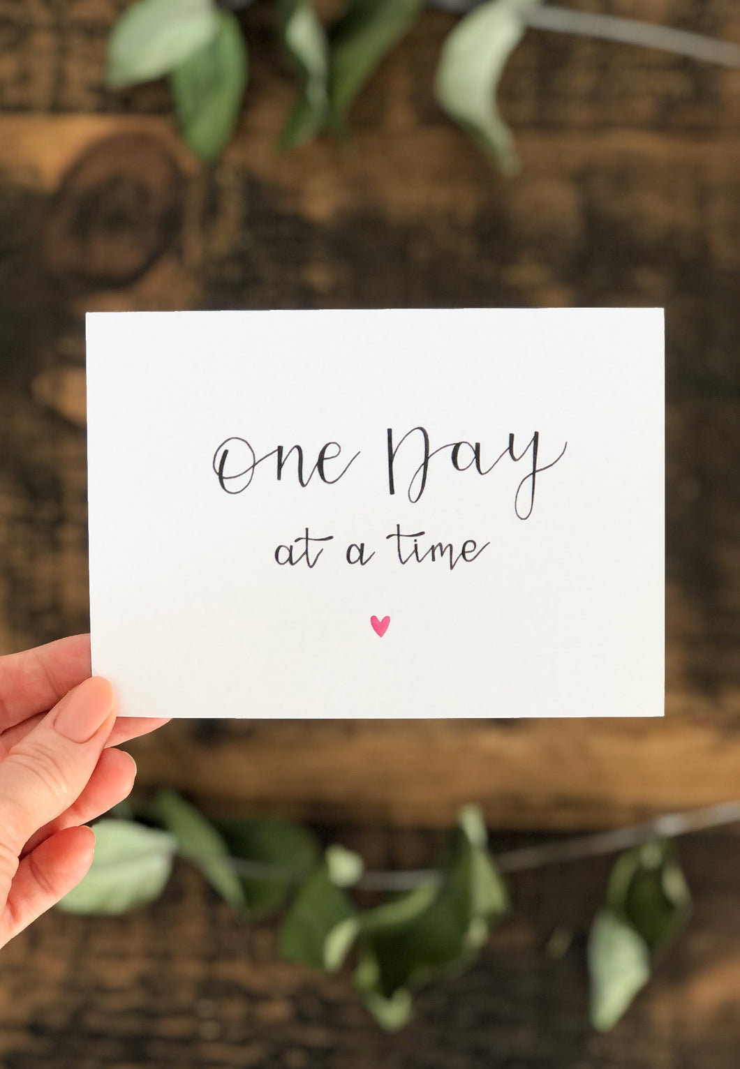 'One Day At A Time' Postcard