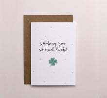 Load image into Gallery viewer, Wishing You So Much Luck Card - Gold Dots
