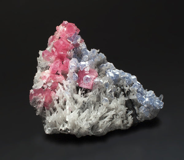 6296 - RHODOCHROSITE, QUARTZ, and FLUORITE