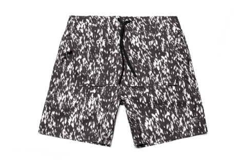 Calf Hair Print Trunks - Black