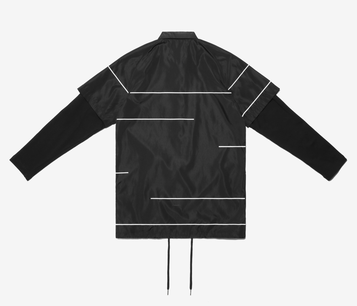 LAYERED COACHES JACKET