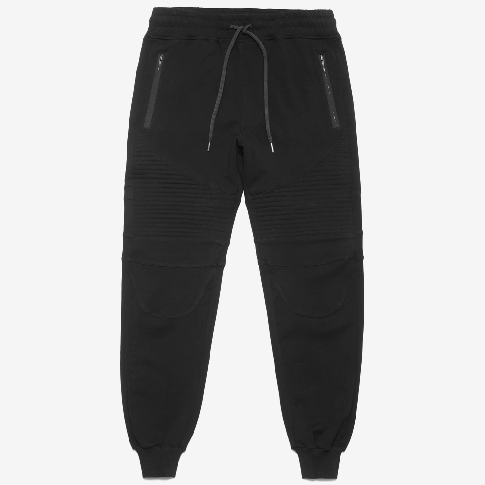 Black Essential Moto Warm Up Pant