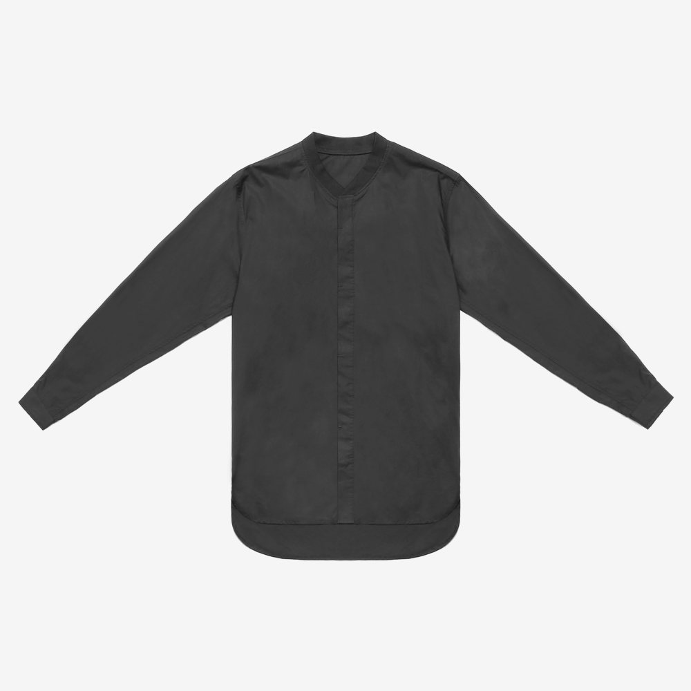 Rib Collar Dress Shirt