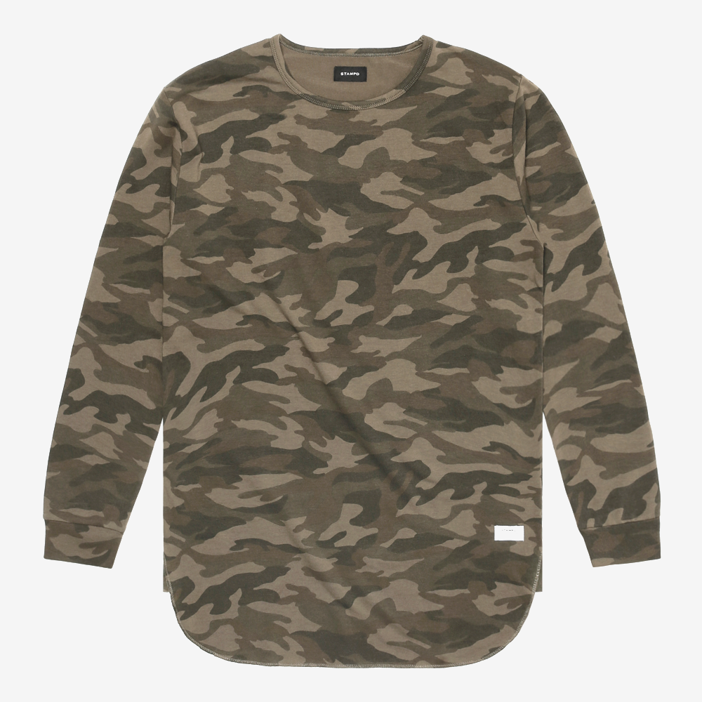 Camo Washed Long Sleeve