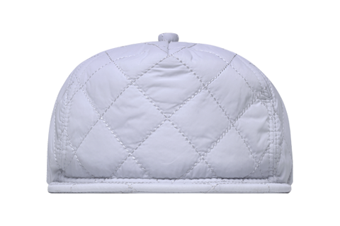 Cool Grey Nylon Quilted Bomber Hat