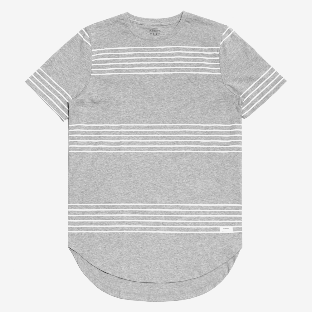 FINE LINES SCALLOP TEE