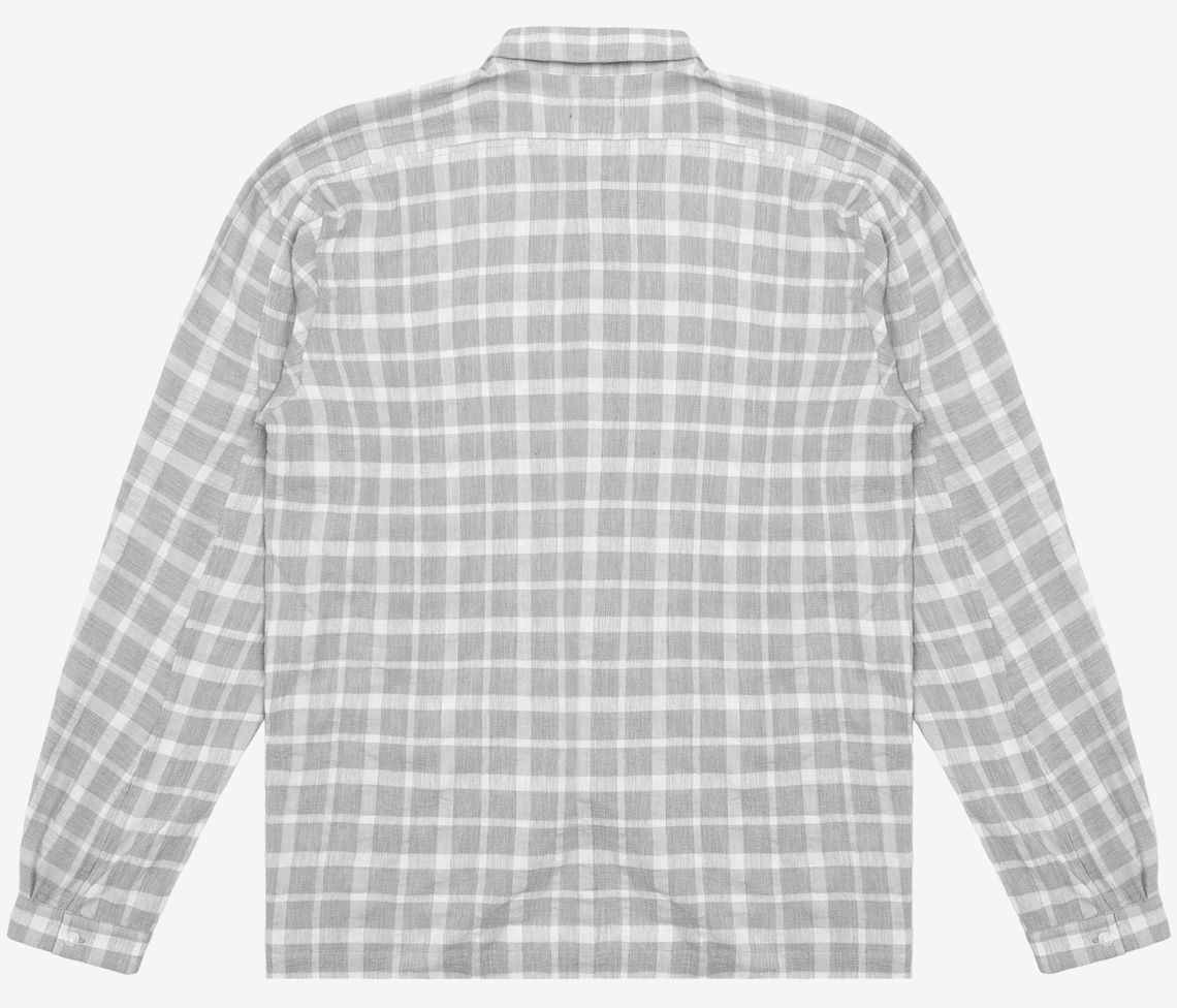 Linen Pocket Plaid Shirt